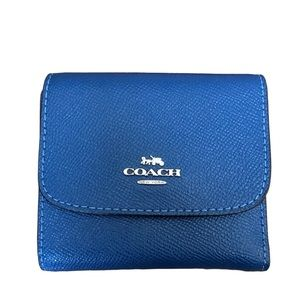 COACH Blue Trifold Wallet